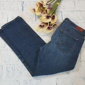 AG Stevie Slim Straight Crop Jeans